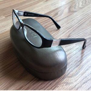 Authentic Gucci Frame Glasses Black White Frames